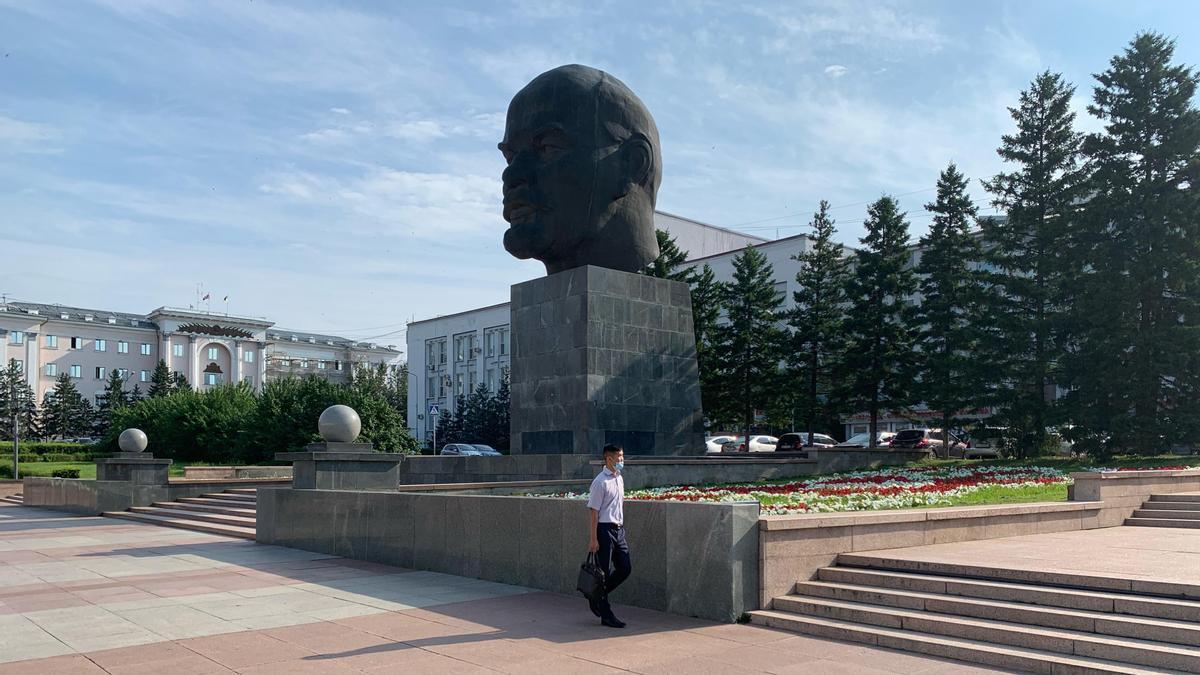 Centro de Ulan Ude, capital de la republica rusa de Buriatia.