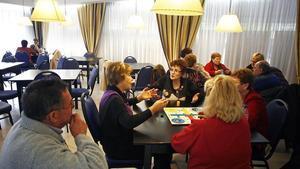 Turistas del Imserso, en un hotel de Lloret.