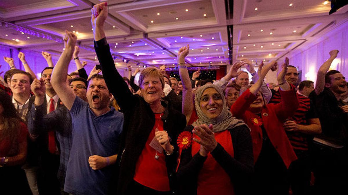 Euforia en las filas unionistas.