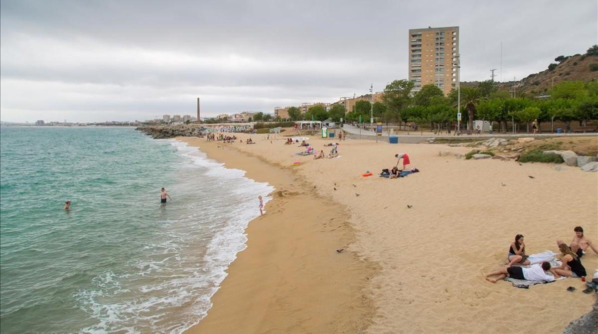 Vista de la playa de Montgat.