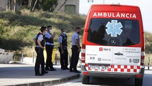 Fèlix Millet llega en ambulancia a la cárcel de Brians 2.