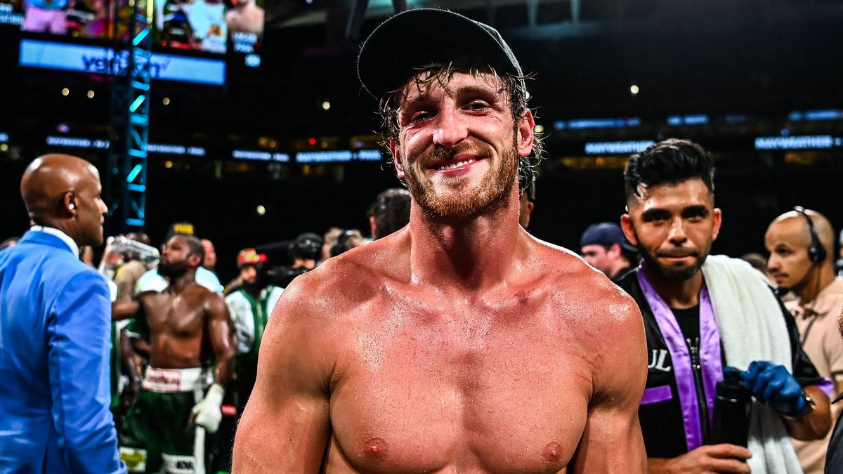 La estrella de Youtube Logan Paul en el combate contra Floyd Mayweather en el estadio de Hard Rock en Miami
