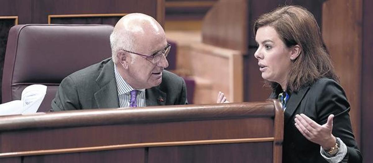 Duran y Santamaría, en el Congreso el pasado octubre.