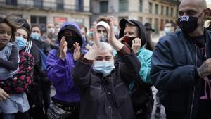 Manifestación para salvar el gimnasio Sant Pau, el pasado 3 de octubre.