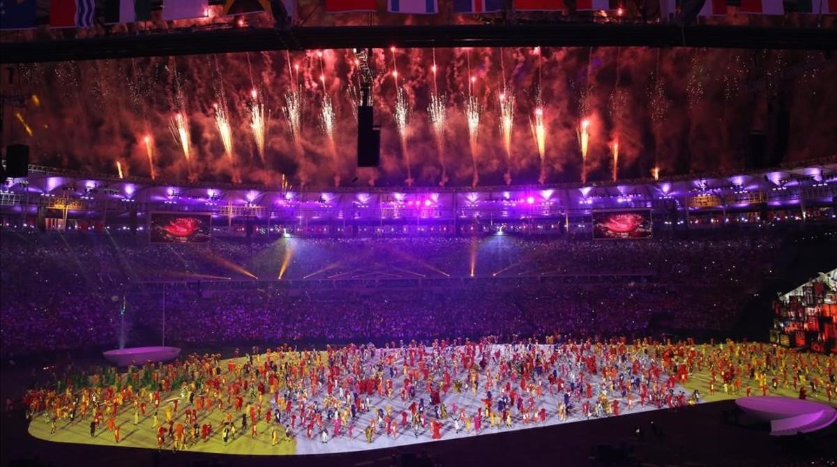 Uno de los momentos de la ceremonia inaugural.