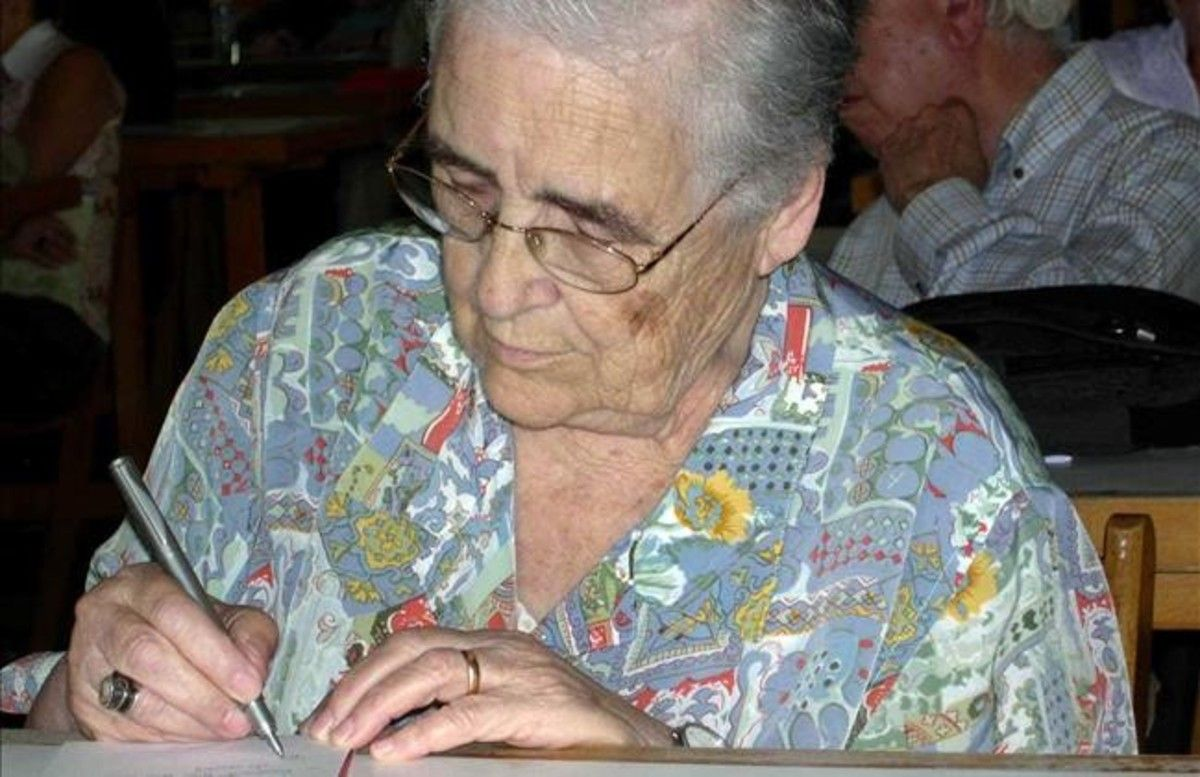 La pedagoga Marta Mata en mayo del 2006, unas semanas antes de su fallecimiento.