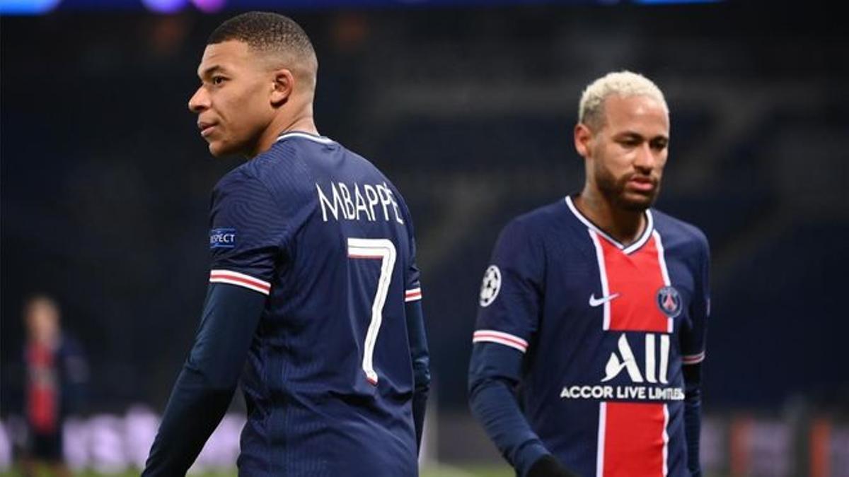 Mbappé y Neymar, en un partido de la pasada campaña.