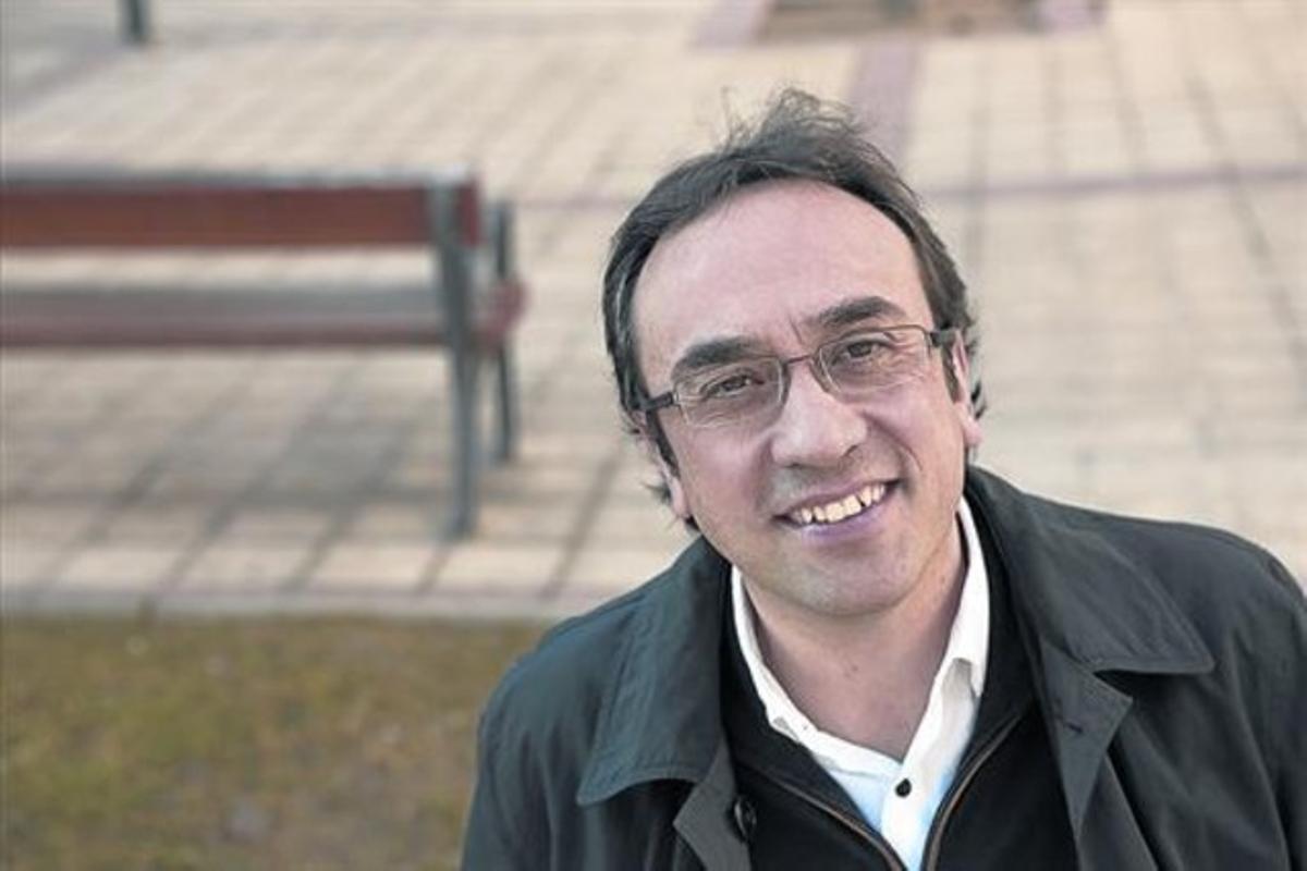 Josep Rull, este pasado sábado en Bellaterra, tras el cónclave de su partido.