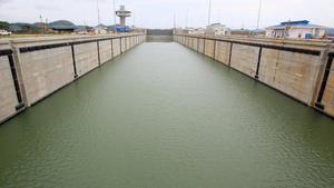 Vista general de las nuevas esclusas del Canal de Panamá.