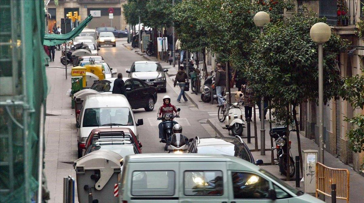 Calle de Bonavista, en Gràcia, donde han sucedido los hechos denunciados.