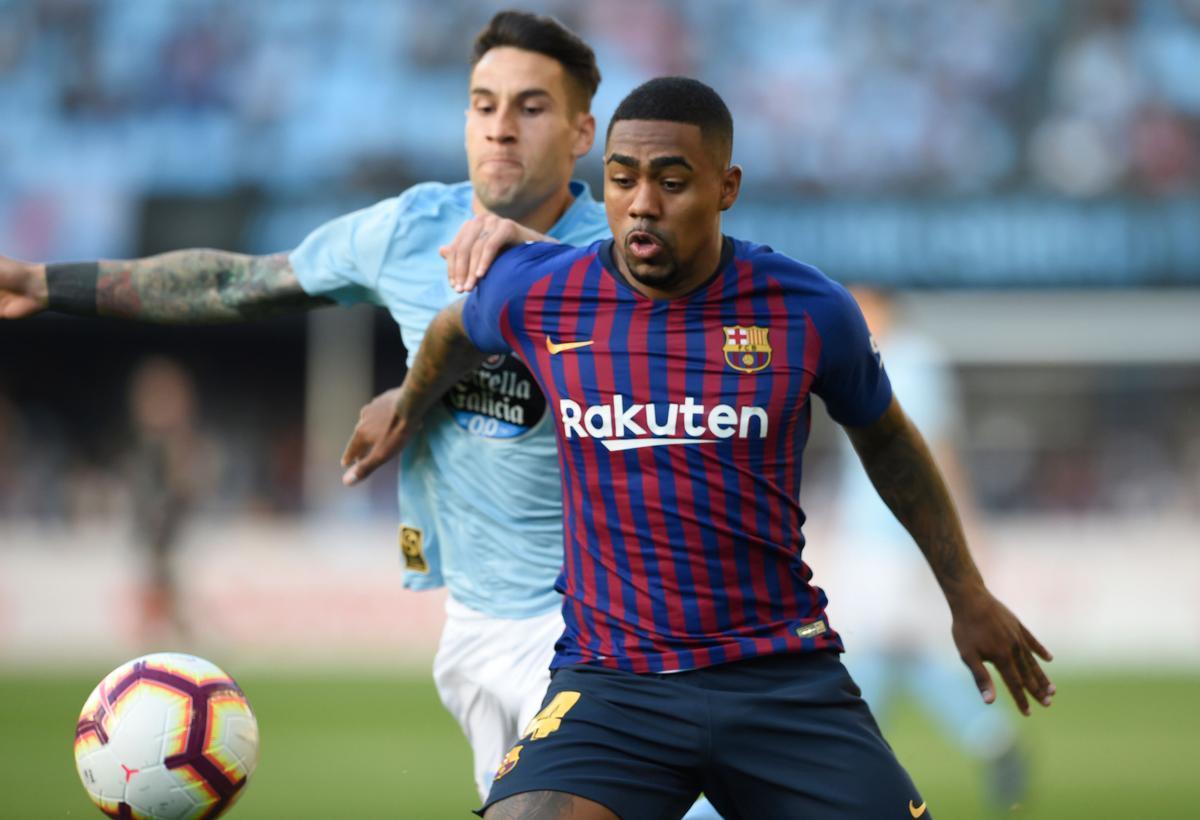 Malcom, en un partido ante el Celta, en mayo de 2019.