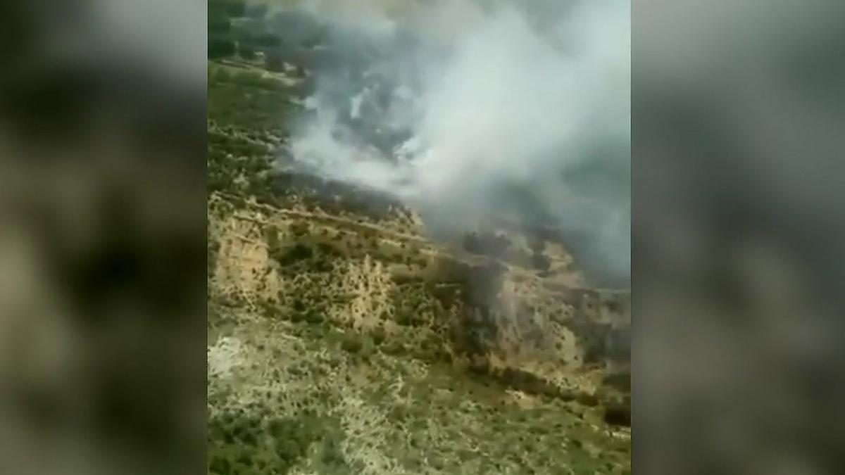 Estabilizado un incendio forestal en Àger (Lleida)