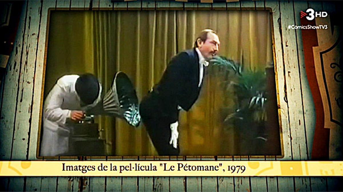 Evocación de Joseph Pujol, alias 'Le Pétomane', en el programa 'Comics show', de TV-3.