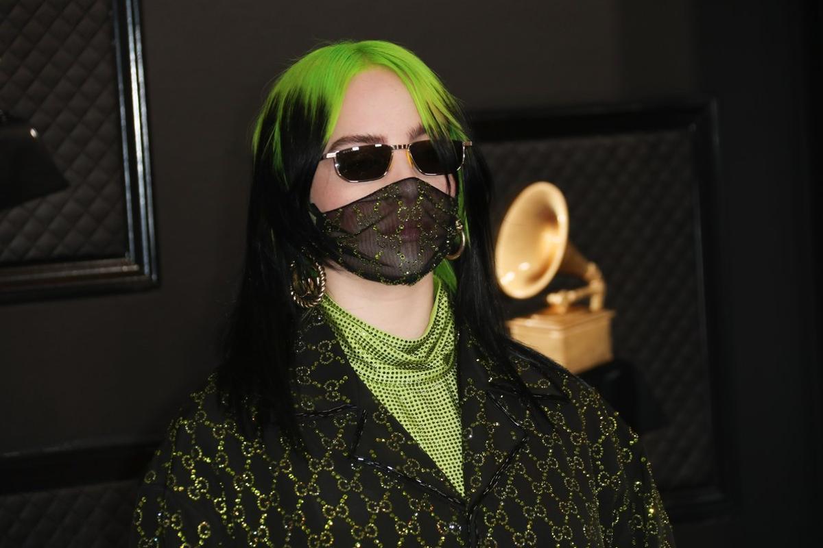 Billie Eilish en la gala de los Grammy 2020.