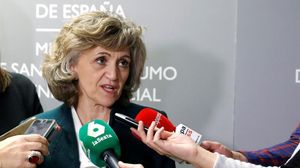 La ministra de Sanidad, María Luis Carcedo, este jueves.