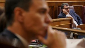Pedro Sánchez y Aitor Esteban (PNV), en una sesión del Congreso