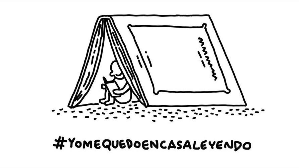 Ilustración de Javirroyo para la campaña de Penguin Random House #yomequedoencasa.