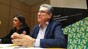 El presidente de Acave,Martí Sarrate, y la gerente de la asociación, Catiana Tur.