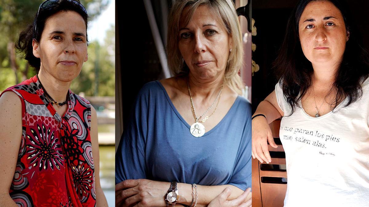 Laura Herrera, María José Jiménez y Mónica Castillo, víctimas de tráfico.