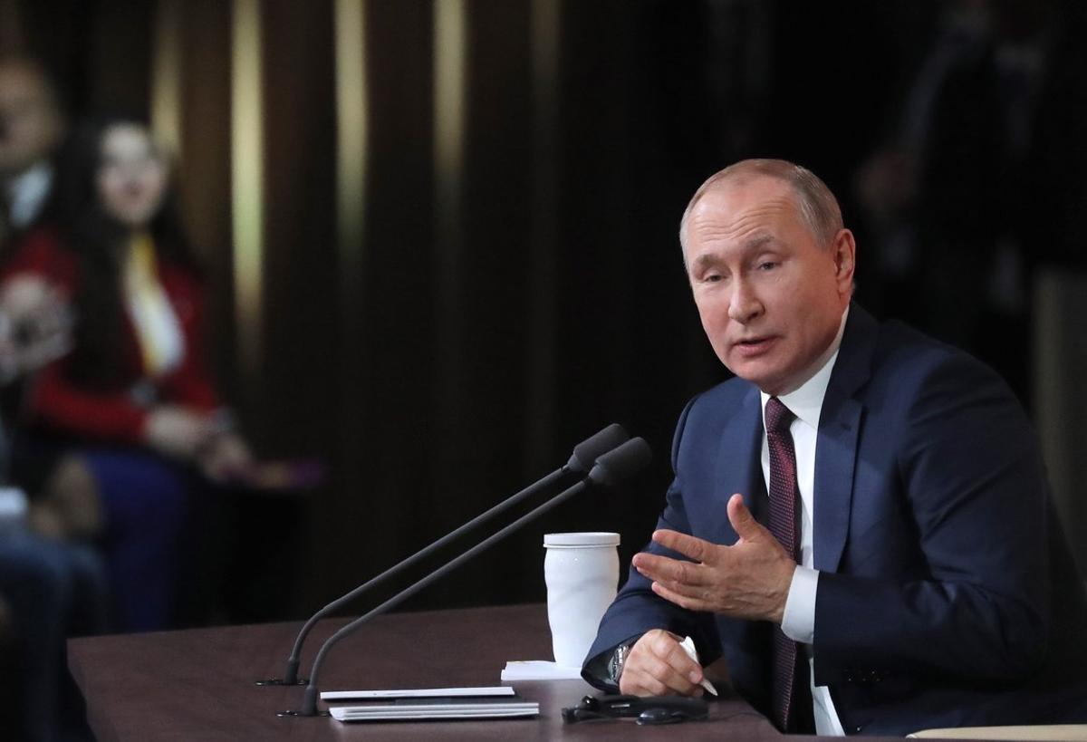 Putin, durante la conferencia de prensa, en Moscú.