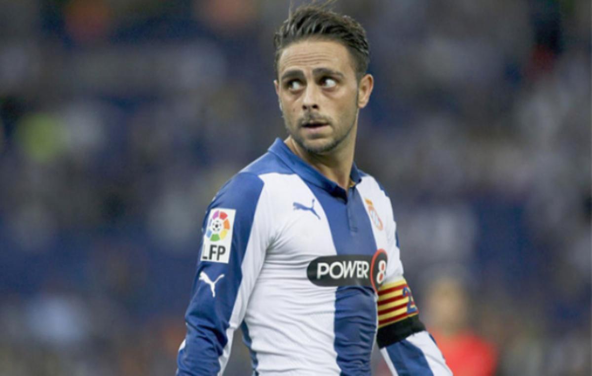 El delantero Sergio García, en su época como capitán del Espanyol.
