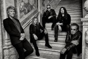Bon Jovi, en una imagen promocional del nuevo disco, '2020'