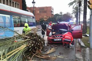 La borrasca 'Hortensia' causa destrozos a su paso por Barcelona y varias comarcas catalanas