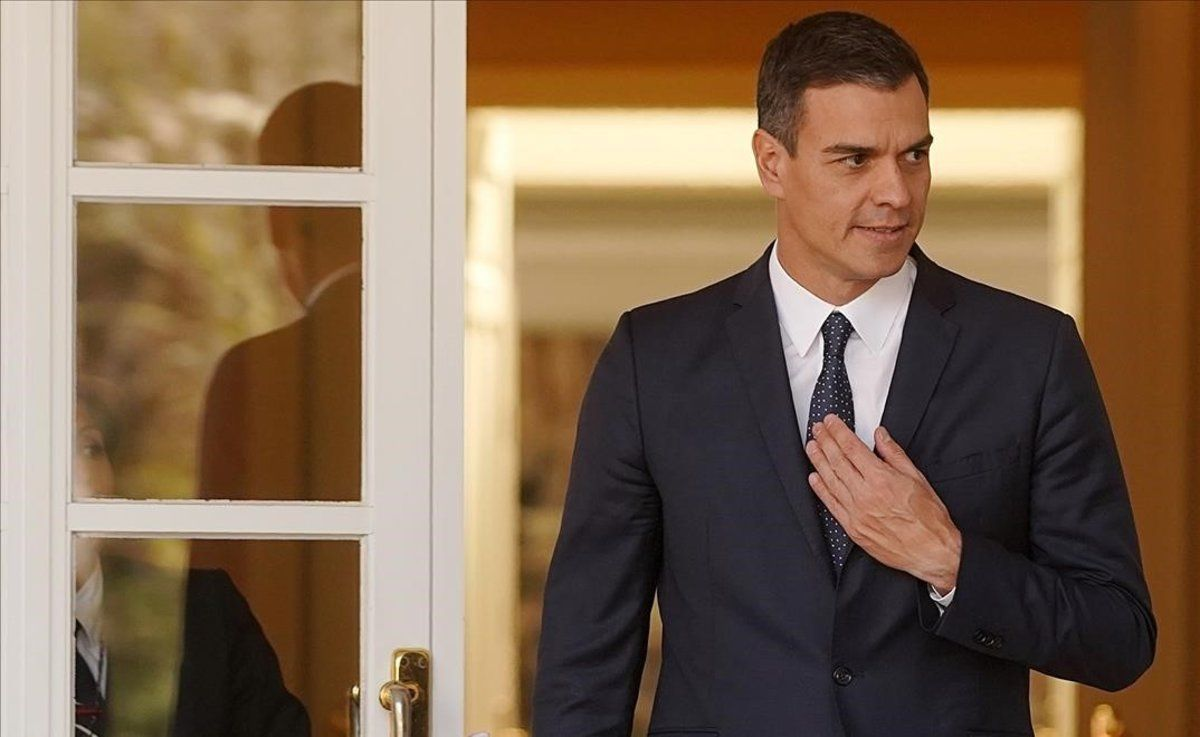 Pedro Sánchez en la Moncloa.