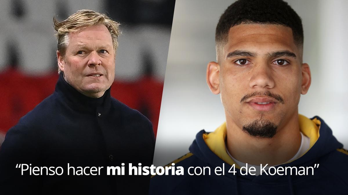 Ronald Araújo: Pienso hacer mi historia con el 4 de Koeman.