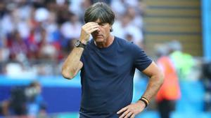 Joachim Löw, en un partido de la selección alemana.