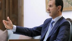 El presidente de Siria, Bachar al Asadm, en una entrevista en Damasco.