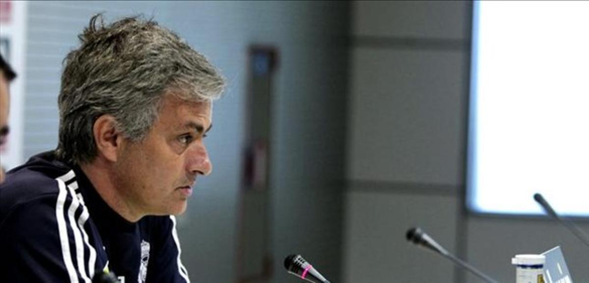 José Mourinho, técnico del Real Madrid, en rueda de prensa.