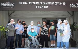 Personal médico y enfermos de COVID-19 en un hospital de Brasil.