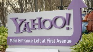 La entrada al cuartel general de Yahoo!, en Sunnyvale (California).