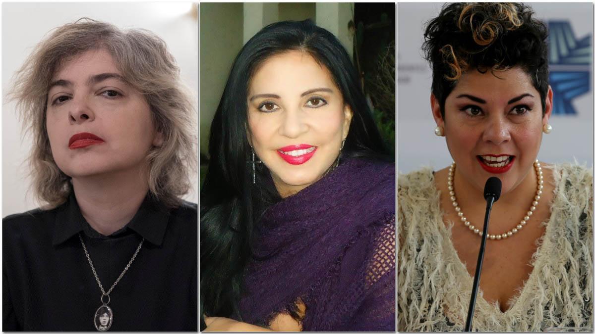 Mariana Enriquez, Giovanna Rivero y María Fernanda Ampuero.