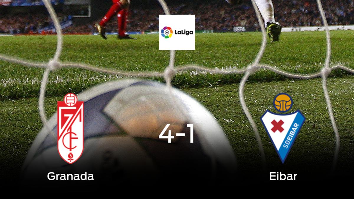 El Granada consigue los tres puntos en casa tras pasar por encima del Eibar (4-1)