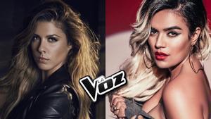 Miriam Rodríguez y Karol G, asesoras de Pablo López y Antonio Orozco en 'La Voz' de Antena 3