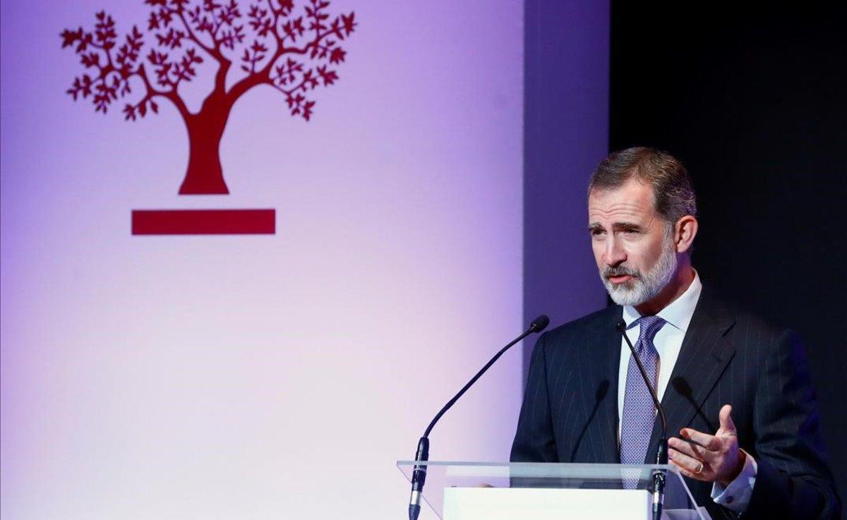 El Rey durante su discurso en el XXIII Congreso Nacional de la Empresa Familiar