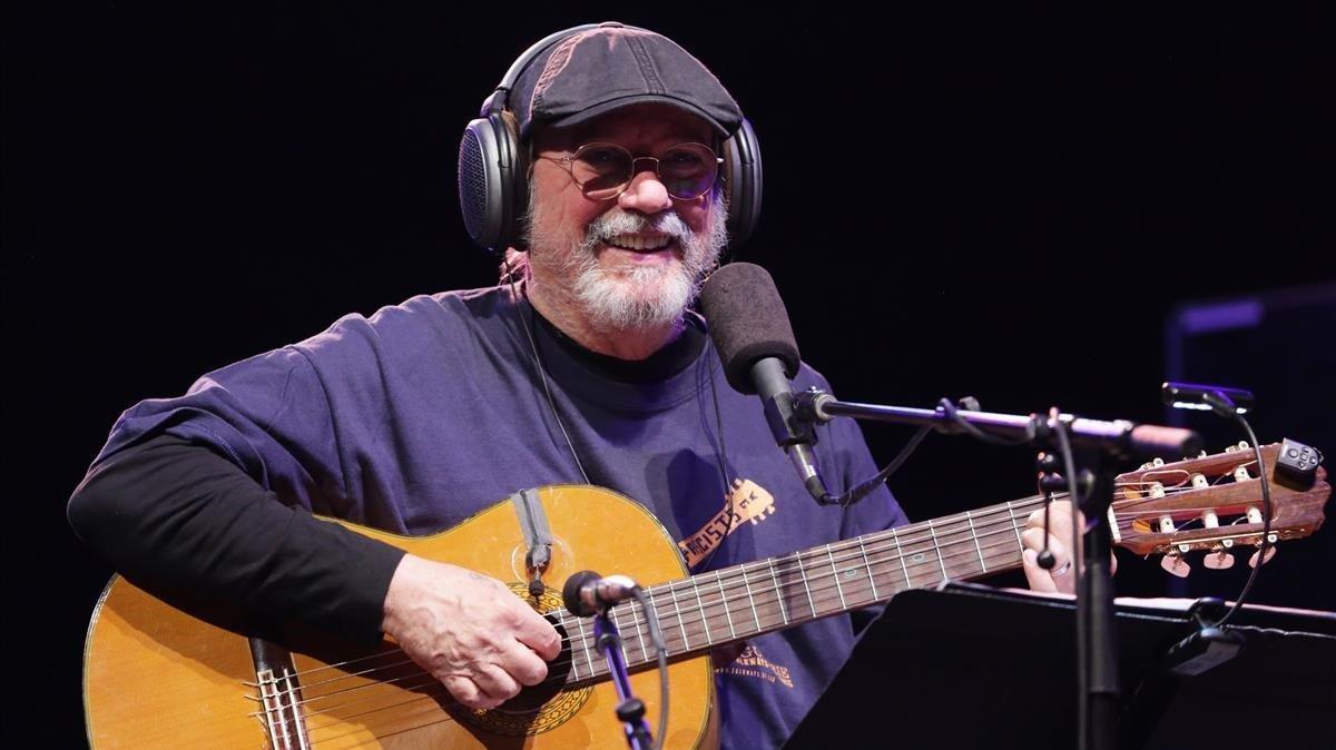 El cantautor Silvio Rodríguez, durante un concierto.