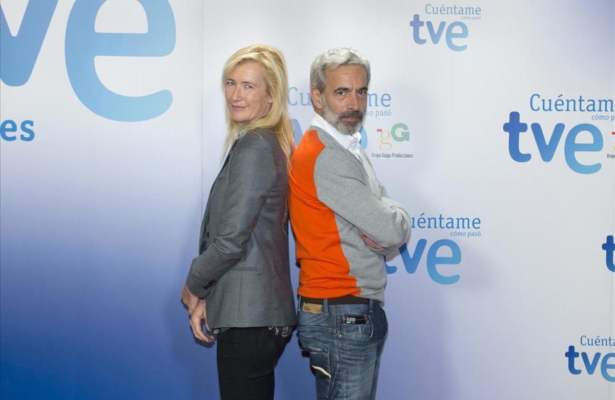 Imanol Arias y Ana Duato, protagonistas de la serie de TVE 'Cuéntame cómo pasó'.