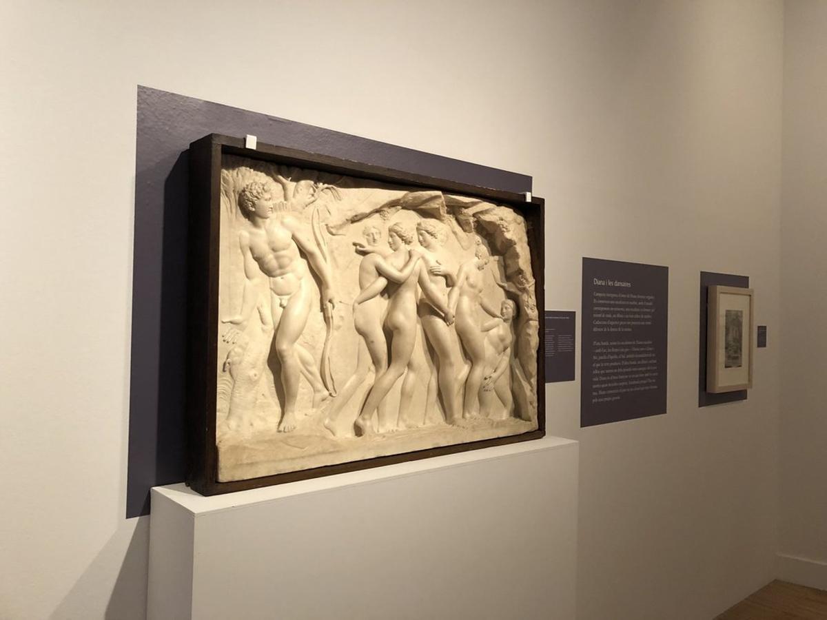 """Fotografía de una de las obras de la exposición""""Reflexos. L'obra de Damià Campeny""""."""