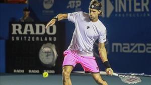 Feliciano López, en acción, en un reciente torneo