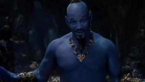 Will Smith se tiñe de azul en el nuevo tráiler de 'Aladdin'.