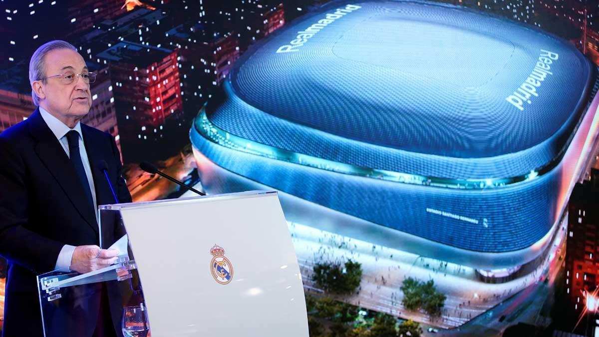 Florentino Pérez ha presentado hoy la reforma del estadio Bernabéu.