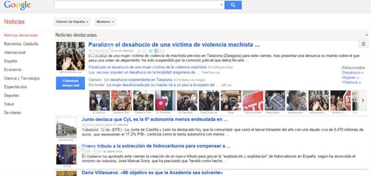 Google News en España.