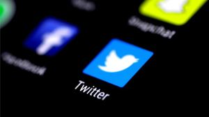El logotipo de la red social Twitter.