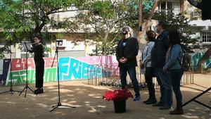 Santa Coloma homenatja les persones deportades a camps d'extermini nazis