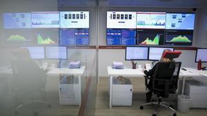 Sala de control de la ZBE del AMB en Via Laietana.