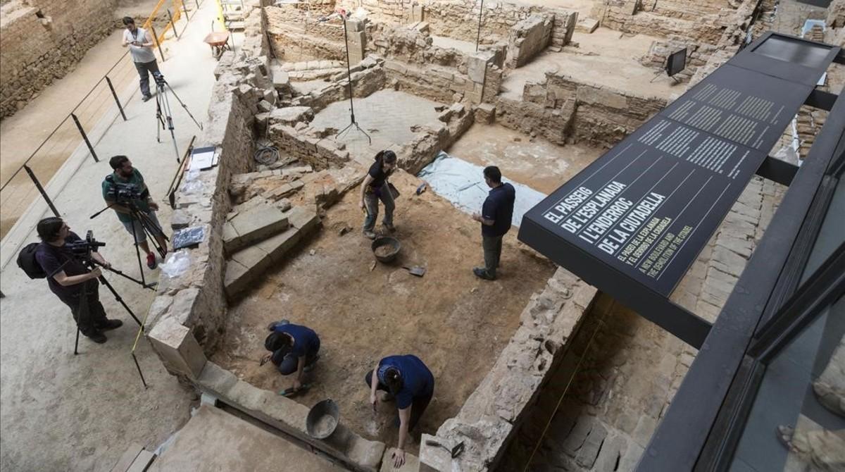 Las excavaciones en el recinto delBorn CCM.