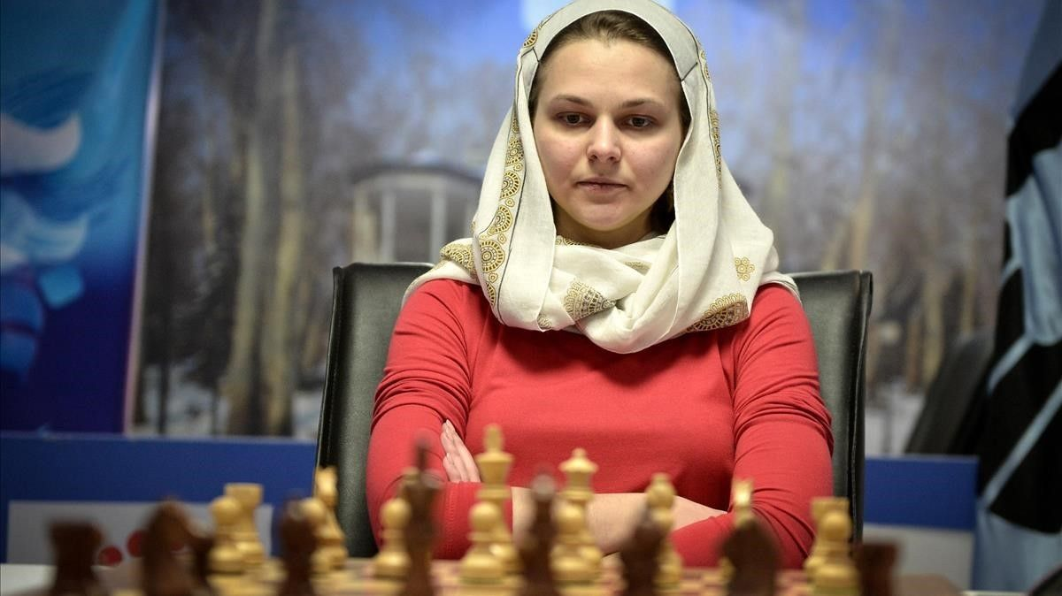 Anna Muzychuk, el pasado mes de marzo en Irán.